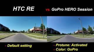 HTC RE vs. GoPro Session