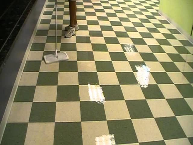 sealing the vct flooring with several