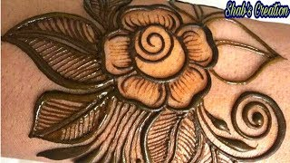 How to make Rose Henna with these Simple Steps|Beginners Mehndi Design|Simple Mehndi Design