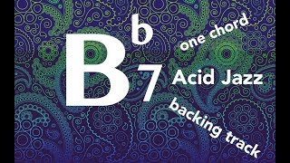Bb7 one chord Funky/Acid Jazz Backing Track (for all instruments)