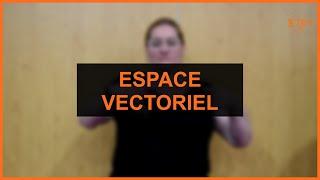 Mathématiques - Espace vectoriel