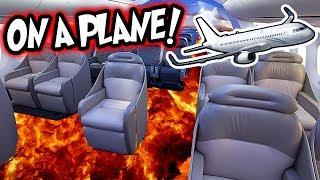 FLOOR IS LAVA ON A PLANE!! (UNITED AIRLINES!) FLOOR IS LAVA CHALLENGE ON AIRPLANE!!