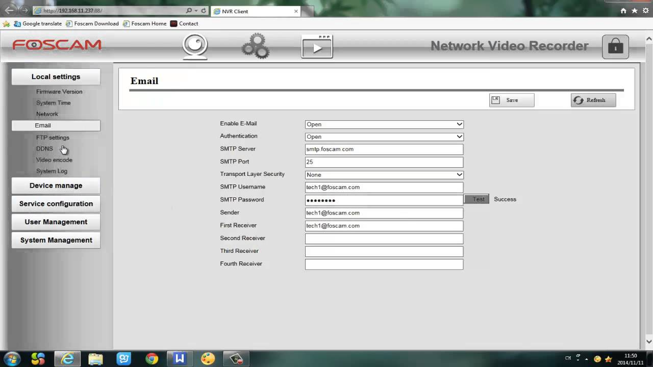 Foscam NVR Tutorial: How to setup Email Alarm on your NVR ...