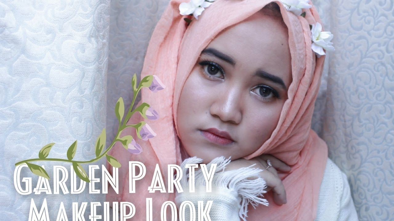 #NandaArsyntaGiveAway Garden Party Makeup Look - YouTube