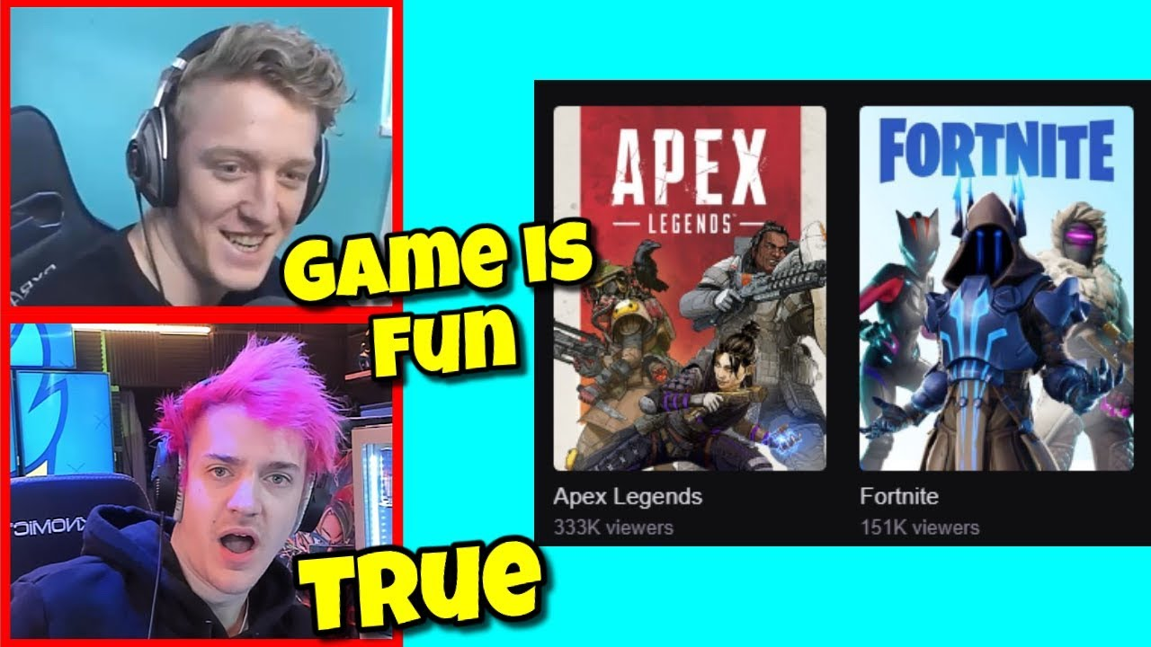 Tfue Reacts to Ninja playing Apex Legends and Ditching Fortnite ~ Best Fortnite Moments #1