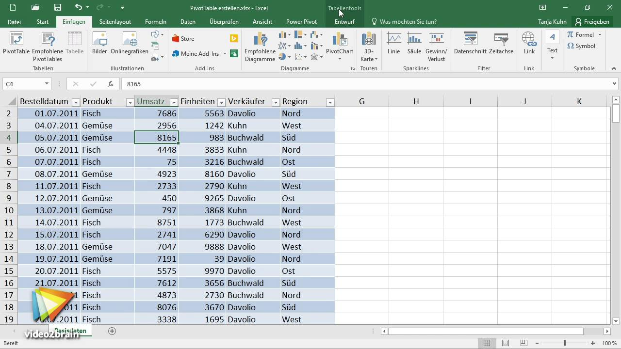 Excel 2016 Pivot Tabellen Tutorial Pivot Tabelle
