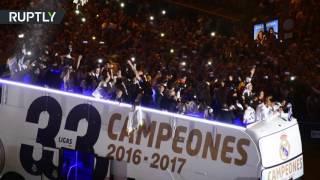 Фанаты «Реал Мадрида» отпраздновали победу команды в чемпионате Испании