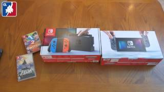 Nintendo Switch Unboxing Neon and Gray