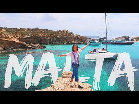 Malta 2018 Girls Trip Travel Vlog | Blue Lagoon | Cafe del Mar Malta | Valletta