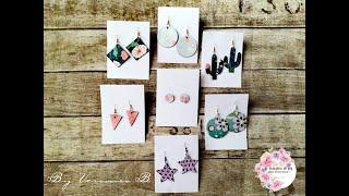 Orecchini di carta Diy!! Riciclo creativo!