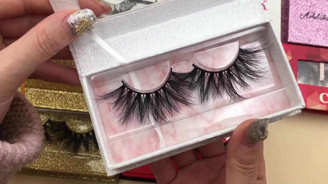 Eyelash Vendors Wholesale 25mm Mink Lashes With Eyelash Packaging Box & Case
