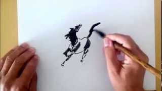 Рисунок лошади - drawing horse