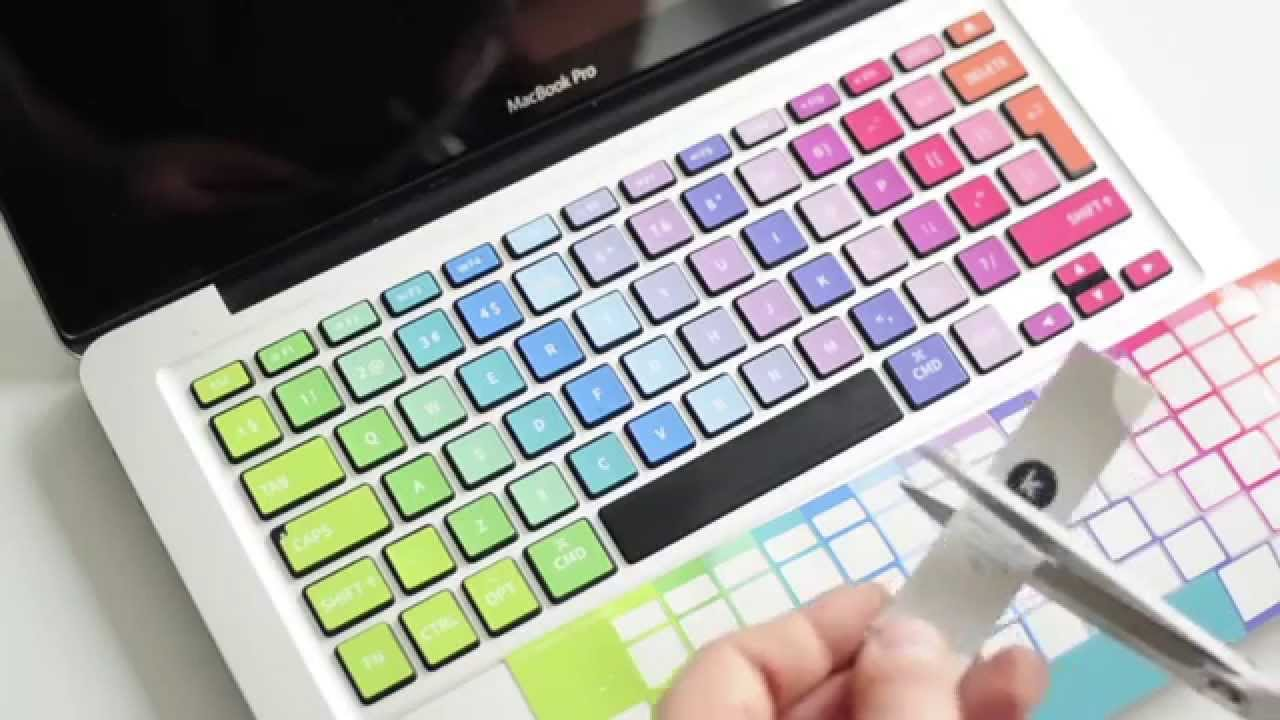 How To Apply Keyshorts Stickers To The Keyboard
