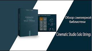 Обзор сэмплерной библиотеки Cinematic Studio Solo Strings