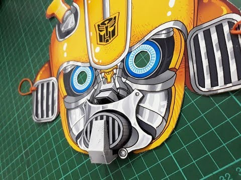 How To Make Transformers Blebee Papercraft Mask
