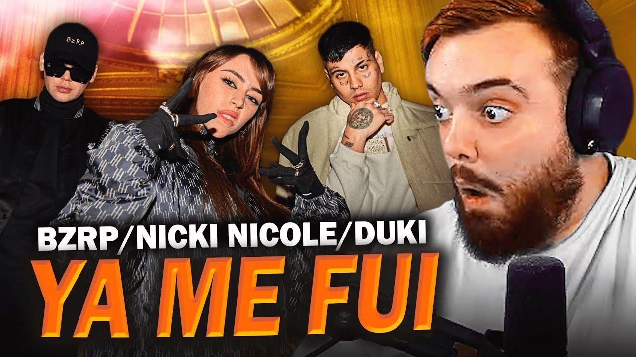 REACCIONANDO A ''YaMeFui'' - Bizarrap x Duki x Nicki Nicole