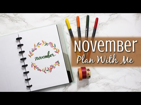 November 2018 | Plan With Me | Discbound Bullet Journal Mp3