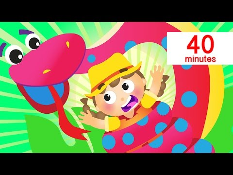 Giant Snake Won't Bite, Baby Shark, Itsy Bitsy and More | Animal Songs | by Little Angel