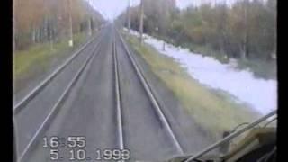 Рекордные испытания ТЭП80-0002 05.10.1993.TEP80 world speed record 271 km/h(Запись испытаний на которых был поставлен ныне действующий мировой рекорд скорости для тепловозов - 271км/ч...., 2009-03-19T21:11:54.000Z)