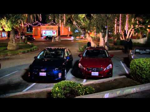 Larry David Parking in 2 spots