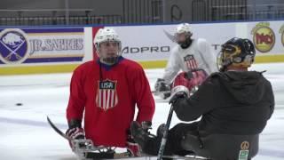 BBC World Feature   Sledge hockey self-experiment   Buffalo 2015