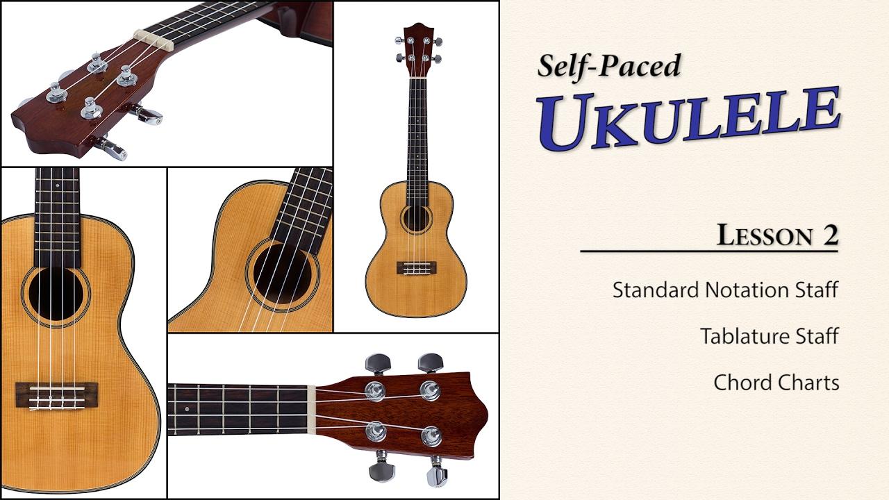 Ukulele Lesson 2 Staff Tablature Chord Diagrams Youtube String Diagram