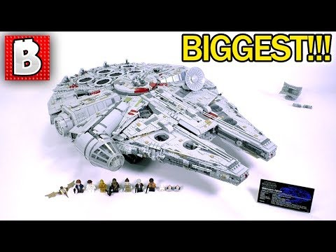 LEGO Millennium Falcon 2017 Ultimate Collector Series Review! BIGGEST SET EVER MADE!!! 75129