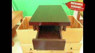 End-table On Backsaver Closeout Is Easy To Assemble - See Pictures Of $199 Table Closeout Sale $39