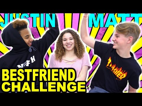 Best Friend Challenge! (MattyBRaps & Justin ft Madison Haschak)
