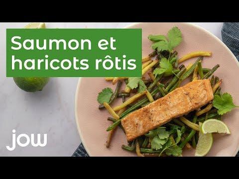 recette-saumon-et-haricots-rôtis
