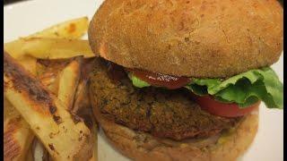 Low Fat Vegan No Oil Black Bean/Lentil Veggie Burgers from Jeff Novick MS RD