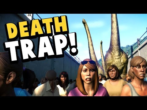 Jurassic World Evolution - EVERY GUEST TRAMPLED BY DINOS! - Insane Dino Rampage! - JWE Gameplay