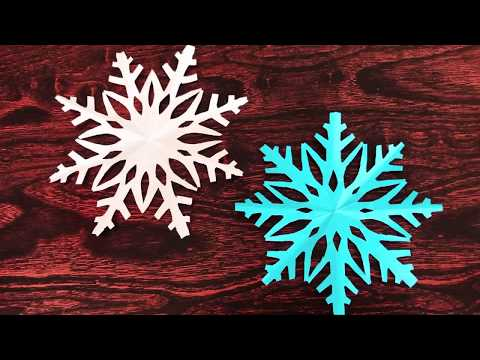 Paper Snowflake / Snowflake Craft / How To Make A Snowflake From Paper