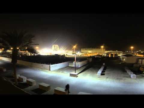Timelapse: Bridge for NSA Bahrain Moved and Installed