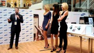 Samsung Canada Galaxy Note Launch - with Supermodels
