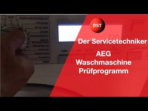 AEG Electrolux Lavamat Prüfprogramm komplett