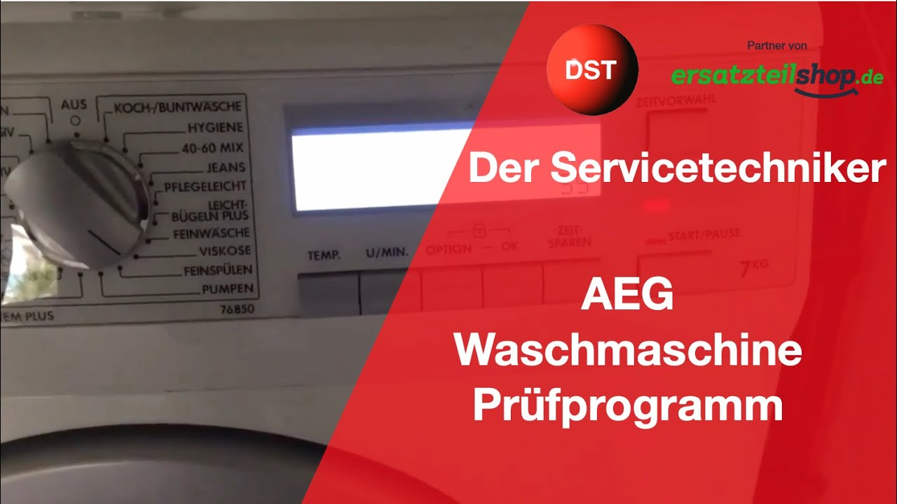 Aeg electrolux lavamat prüfprogramm komplett youtube
