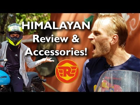 Royal Enfield Himalayan FOREIGN OWNER Review & Genuine RE ACCESSORIES!