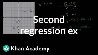 Second regression example | Regression | Probability and Statistics | Khan Academy