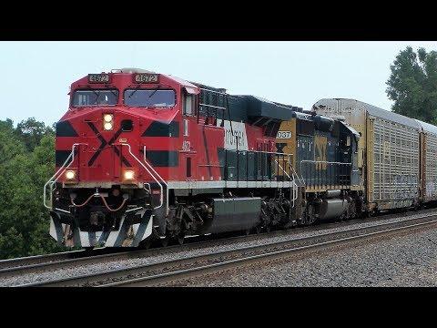 LOTS of Trains in the La Crosse Area - BNSF, FXE, CSX, Ex-BN, & much more!
