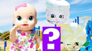 Baby Alive FIND Crazy BABY ALIVE Doll Surprise Shopkins Summer Fun Playground Park Day Kids Videos