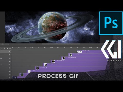 Make A Photoshop GIF Animation Showing VFX Breakdown Of Layers
