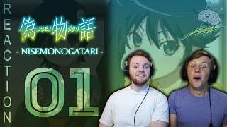 SOS Bros React - Nisemonogatari Episode 1 - Awaken My Waifus
