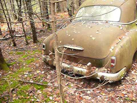 Old cars & trucks in the Maine Woods - P1490237.MOV - YouTube