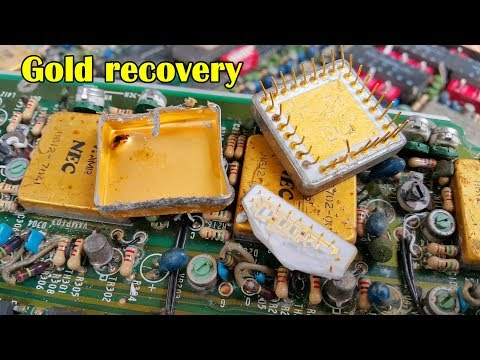 gold recovery old electronics. recycling of precious metals. recycling business gold in ic chips.