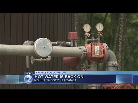 Hot water returns to UH Manoa dorm