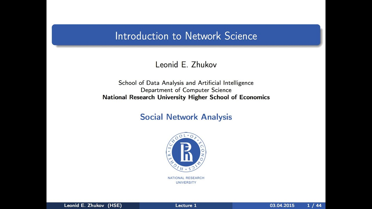 Introduction To Sna Lecture 1 Introduction To Network Science