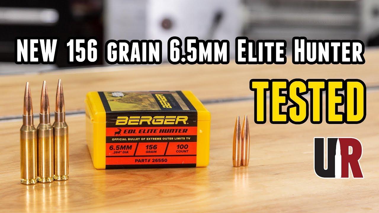 TESTED: NEW Berger 156 grain 6 5mm Elite Hunter Bullets