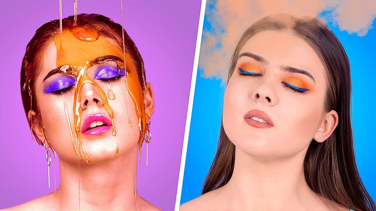 15 лайфхаков для макияжа / Глянцевый макияж против матового