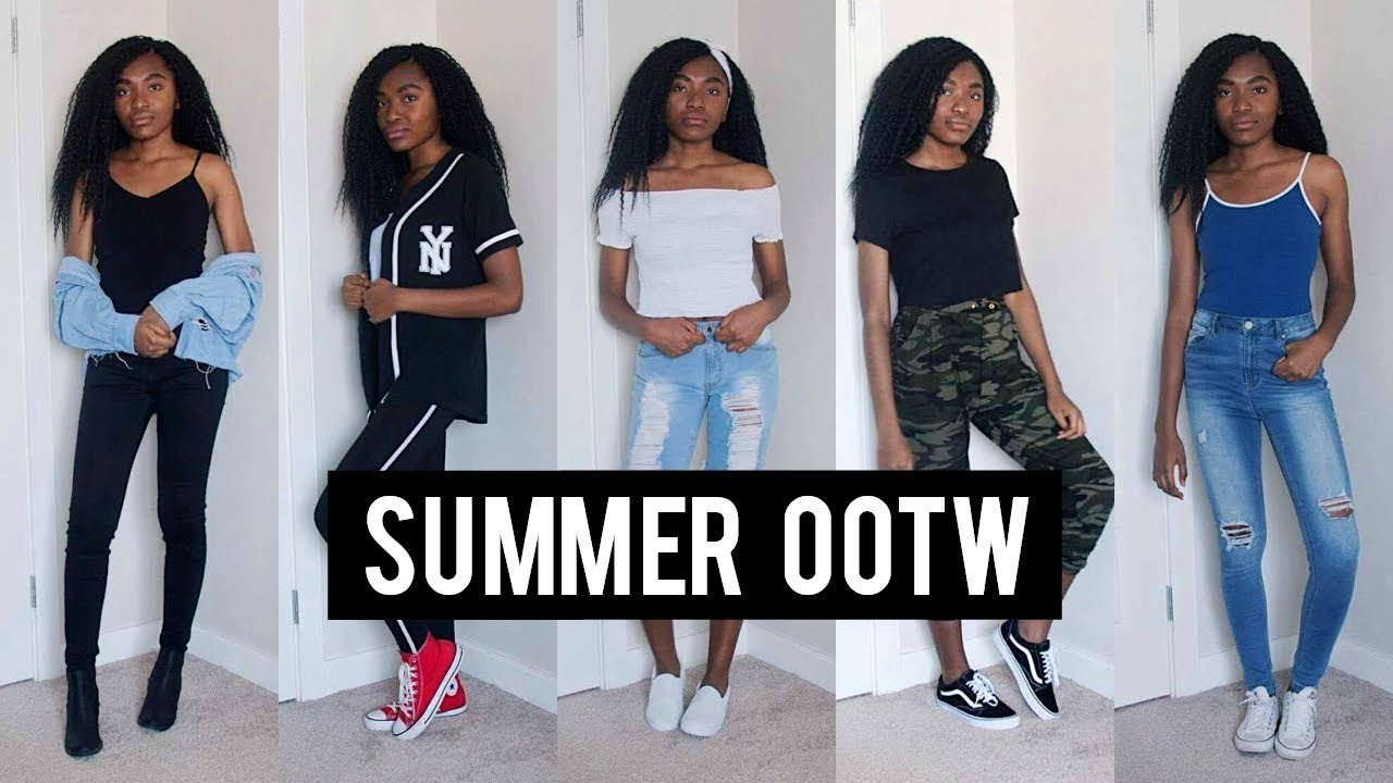 SUMMER OOTW | SUMMER OUTFIT IDEAS 2017 - YouTube